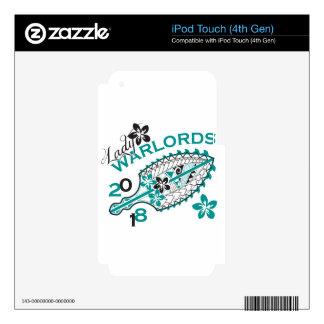 Señora 2018 Warlords - diseño blanco iPod Touch 4G Calcomanía