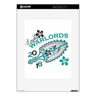 Señora 2018 Warlords - diseño blanco iPad Calcomanía