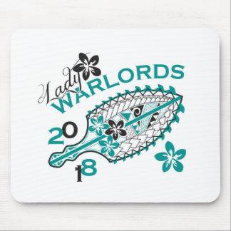 Señora 2018 Warlords - diseño blanco Alfombrilla De Ratón