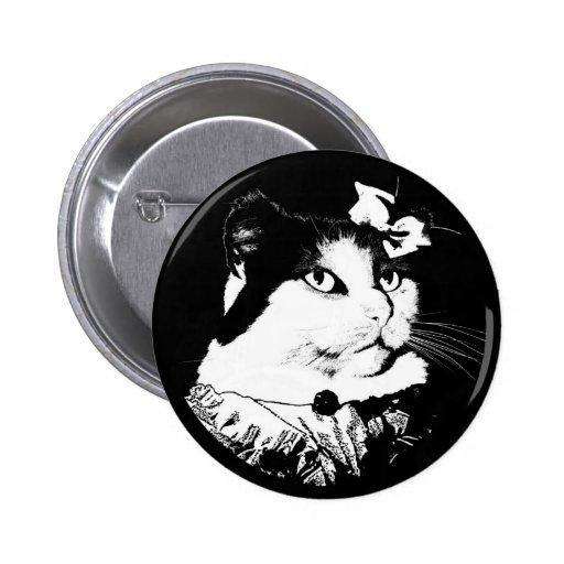 Señora Abigail Cat Button Pin