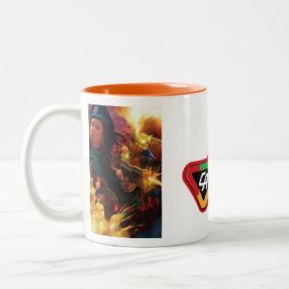 Señora Action Mug Taza De Dos Tonos