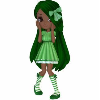 Señora afroamericana Lime Magnet Fotoescultura Vertical