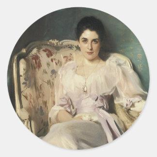 Señora Agnew de Lochnaw Pegatina Redonda