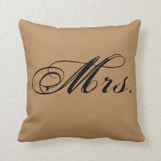 """""""Señora"""" almohada de tiro del acento (Brown)"""