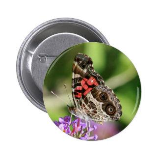 Señora americana Butterfly Pin Redondo 5 Cm
