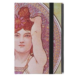 Señora Amethyst Vintage de Nouveau del arte de Alf iPad Mini Coberturas