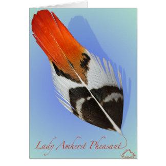 Señora Amherst Pheasant Flank Tarjeta De Felicitación
