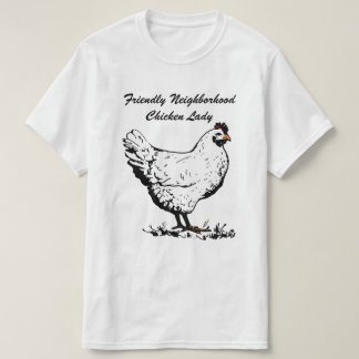 Señora amistosa del pollo de la vecindad remera