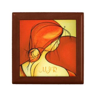 Señora anhelante In Orange Joyero Cuadrado Pequeño