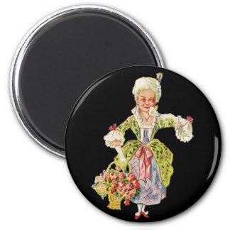 Señora Aristocrat del vintage Imanes Para Frigoríficos