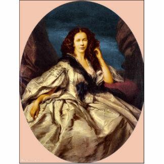 Señora aristocrática del Victorian Fotoescultura Vertical