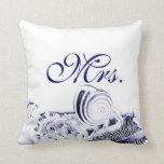 Señora artística simple Pillow de los Seashells de