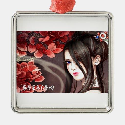Señora asiática ornamento de reyes magos