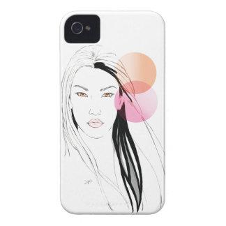 Señora asiática preciosa iPhone 4 carcasas