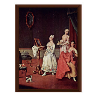 Señora At Her Toilette By Longhi Pedro Postales