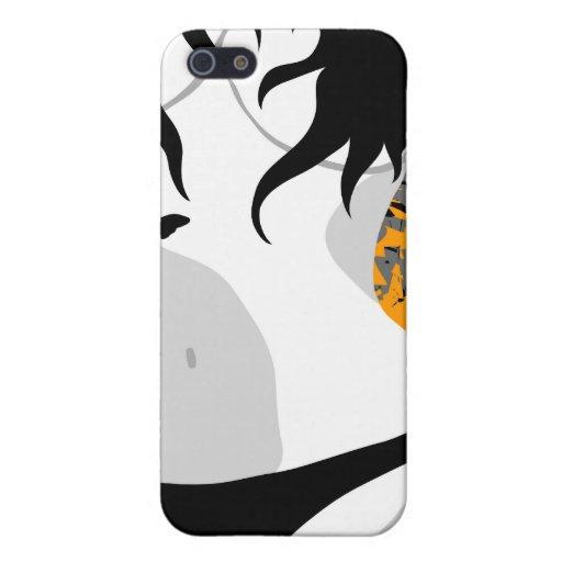 Señora atractiva 24. de las mariposas femeninas de iPhone 5 protectores