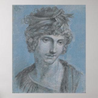 Señora Aubry Olympia de formones, 1784 Póster