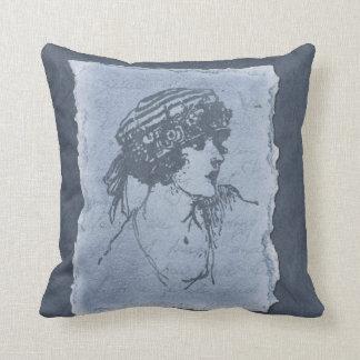 Señora azul Decorative Pillow Almohada