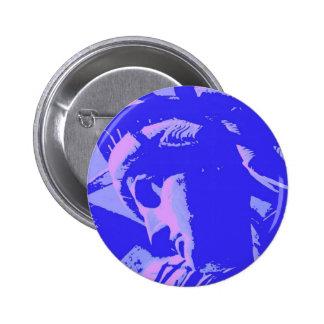 Señora azul Liberty Pin Redondo De 2 Pulgadas