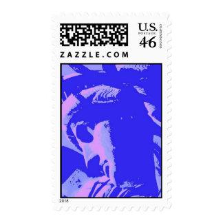 Señora azul Liberty Stamp del arte pop