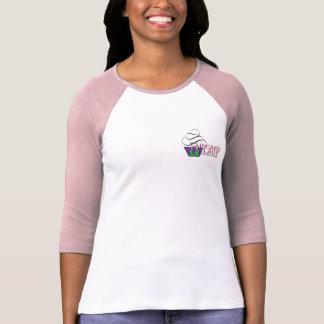 Señora Baseball Shirt de la magdalena en rosa Camiseta