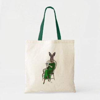 Señora Bella Rabbit Taking Tea 4 Bolsa Tela Barata