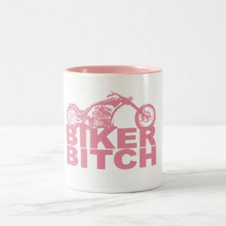 Señora Biker Mug Taza Dos Tonos