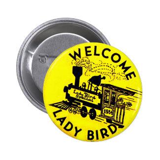 Señora Bird - botón Pins