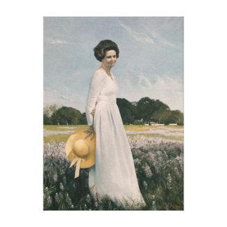 Señora Bird Johnson - Aaron Shikler (1978) Impresion De Lienzo