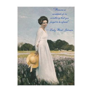 Señora Bird Johnson - Aaron Shikler (1978) Lona Envuelta Para Galerías