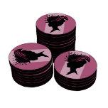 Señora Black Silhouette Fancy Hat del Victorian de Juego De Fichas De Póquer
