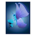 Señora Blue Butterfly Postcard Postal
