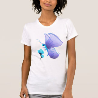 Señora Blue Butterfly Shirt Camisetas
