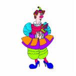 Señora bonita Clown Esculturas Fotográficas