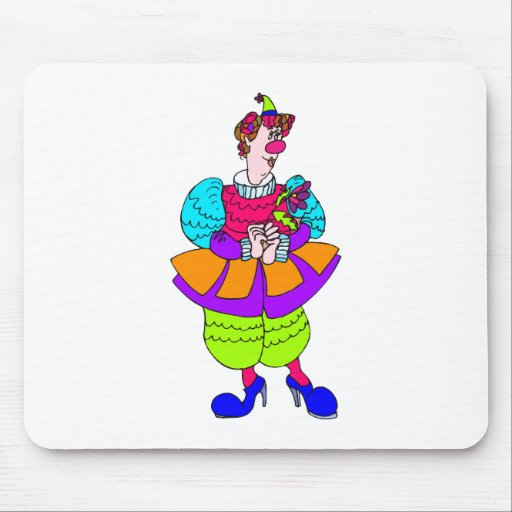Señora bonita Clown Tapete De Ratones