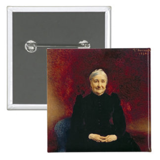 Señora Bonnat, la madre del artista, 1893 Pin Cuadrada 5 Cm
