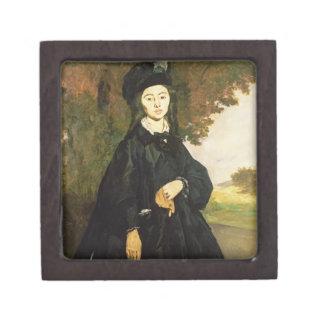 Señora Brunet (aceite en lona) Cajas De Joyas De Calidad
