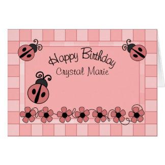 Señora Bug Birthday Felicitaciones