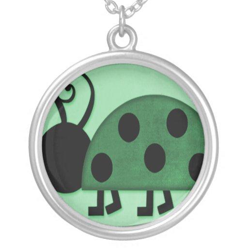 Señora Bug Collares Personalizados