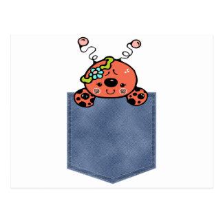 Señora Bug del bebé del bolsillo de Jean Postales