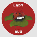 Señora Bug Etiquetas Redondas