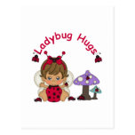 Señora Bug Hugs 2 Postal