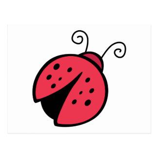Señora Bug - insectos del insecto de la buena Postal