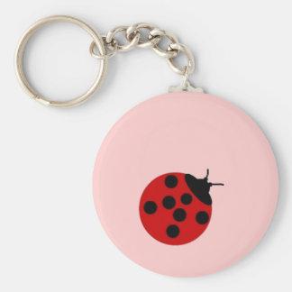 Señora Bug Keychain Llavero Redondo Tipo Pin