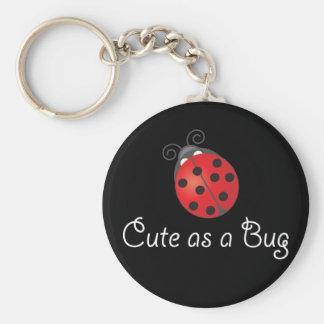 Señora Bug - lindo como insecto Llavero Redondo Tipo Pin