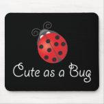 Señora Bug - lindo como insecto Tapete De Ratones