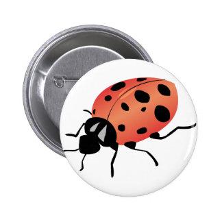 Señora Bug Pin Redondo 5 Cm