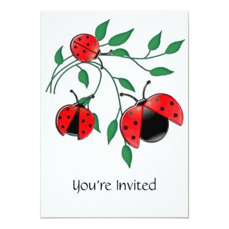 "Señora Bug, señora Bugs Invitación 5"" X 7"""