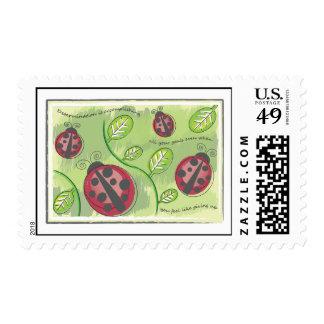 Señora Bug Stamp Sello