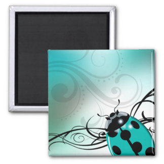 """Señora Bug Swirl"" (aguamarina) por Cheryl Daniels Imán Para Frigorifico"